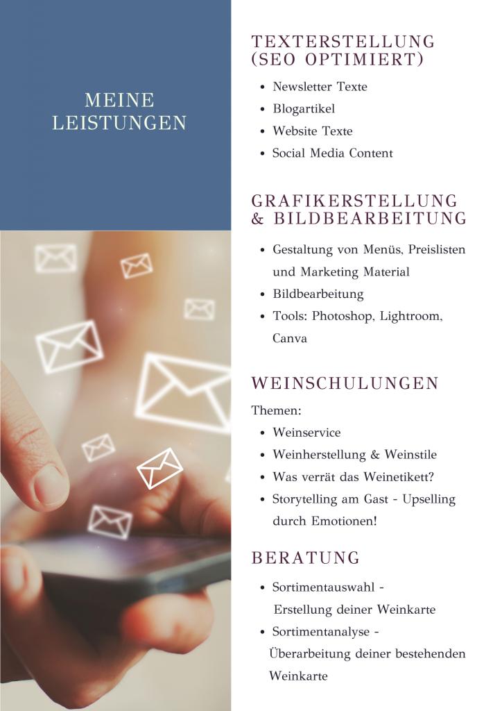 Virtuelle Assistenz Leistungen für Weingüter, Gastronomie und Hotellerie